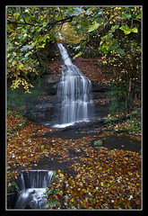 This One Again (K-Burn) Tags: autumn leaves woodland waterfall fife kemback duraden