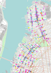 Brooklyn Space Syntax and Activity Patterns (Damiano Cerrone) Tags: new york city newyork brooklyn map maps gis qgis spacesyntax