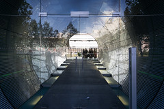 Gate (Francesco Moccia) Tags: light reflection berlin glass germany gate visitors francesco 10faves moccia