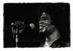 Dessin / Drawing - James Brown (American singer)  Yannewvision - 2015 ('Yannewvision') Tags: old portrait blackandwhite bw man illustration sketch noir noiretblanc drawing sketching picture portrt dessin charcoal singer mann drawn dibujos hombre blackmen vieux homme jamesbrown cantante  getup croquis zeichnung chanteur soulmusic ifeelgood nighttrain snger fusain pratice 2015 sexmachine   enblancoynegro  vieil alten thegodfatherofsoul  illustrat thisisamansworld kohlezeichnung  dibujoalcarbn schwarzundweis   yannewvision