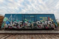 (o texano) Tags: houston texas graffiti trains freights bench benching wyse weezisms d30 dts defthreats a2m adikts