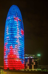 Torre Agbar at night (wirehead) Tags: em5mk2 20mm torreagbar architecture night city