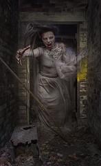 Haunted Halls (Neil A Kingsbury) Tags: portrait ruins corridor haunted ghost girl woman brickwork horror