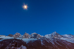 Chamonix-Mont-Blanc, France (Wolfhowl) Tags: night frenchalps landscape winter chamonixmontblanc mountains moon 2016 франція alpinemountains travel montblancmassif montblanc шамоні moonlight france europe chamonix alps