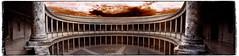 Palau de Carles V (Ar@lee) Tags: granada palaciodecarlosv alhambra pedromachuca manierismo plateresco generalife nikon d50 fullspectrum fotografíainfrarroja filtre720nm espectrecomplet photographyinfrared ir nikond50 panorámica