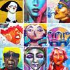 STreet Art Barcelona - Women's Faces (Liliana Benassi) Tags: lilianabenassi lilianabenassicom urban art murales mural donne facce di visi face faces