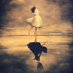 backward road (brookeshaden) Tags: fineartphotography conceptualphotography surrealism whimsical