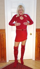 A little more red 1 (donnacd) Tags: sissy tgirl clit clitty tgurl jewels dressing crossdress crossdresser cd travesti transgenre xdresser crossdressing feminization tranny tv ts feminized domina donna red dress scarf heels gold crossed legs pumps shoes panties thong polka dots white blouse earrings hair black stockings tights bra fishnet corset necklace collar he she look 易装癖 シーメール 性転換 第三性 跨性别 ミスターレディ