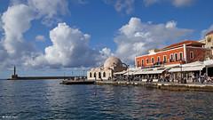 DSC09358-Janissaries Mosque in Chania - Mosque of Hassan Pasha (dreptacz) Tags: grecja kreta chania meczet slt sony lustrzanka chmury niebo woda morze zabytek krajobraz miasto wyspa sonyflickraward flickrtravelaward
