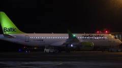 airBaltic CS300 (FabienA380) Tags: air baltic bt bt246 frankfurtriga frankfurt fra riga rix airports flight vol cseries cseries300 cs3 cs300 europe pentax ricoh wg300 engine airplane avion aircraft airport night latvia lituanie