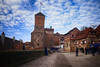 Historic Castle in Nuremberg, Germany (` Toshio ') Tags: toshio nuremberg castle nurembergcastle german europe european europeanunion tower fortress bavaria medieval fujixe2 xe2 clouds history people tourists