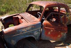 Vulture Mine (~ Lone Wadi ~) Tags: wickenburgarizona vulturemine car automobile rusty rusted transportation americansouthwest abandoned abandonment decrepit rural junked outdoors goldmine