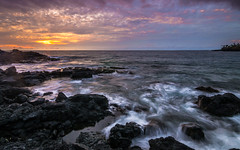 Big island , Hawaii -1 (Rick Vega) Tags: rickvega landscape nature ocean horizon longexposure rocks colors 1116 tokina nikon d7000 water island tropical pacific sunset bigisland hawaii