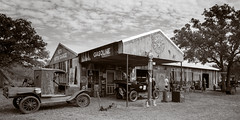 Al's Motor Garage - 4x5 (Wet Possum) Tags: 4x5 chamonix045n2 fujiacros pyro pyrocathd epsonscan film largeformat scan v700