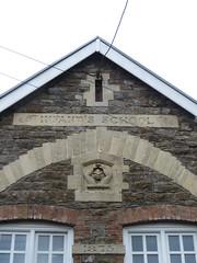 Laugharne - INFANT'S SCHOOL (sic) (Dubris) Tags: wales cymru carmarthenshire laugharne town architecture building school 1875 sign infantsschool grammar apostrophe