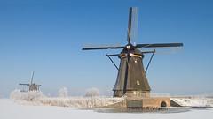 Winter wishes - (Kinderdijk febr.-2012) (Wim Boon (wimzilver)) Tags: wimboon winter kinderdijk nederland cold snow ice skaters molentocht alblasserdam wimzilver 7d canonef1740mmf4lusm canoneos7d winter2012