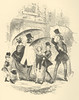 The Nice Little Couple (Rescued by Rover) Tags: phiz illustration sketches boz charles dickens 19 century victorian vintage london characters types umbrella top hat costume dress fashion
