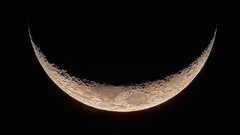 Young Crescent Moon (atgc_01) Tags: lumix lx3 moon crescent afocal celestron xlt 102 refractor hdr