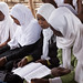 Rumana, a 26-year-old mother in Sudan, during a 7th grade class