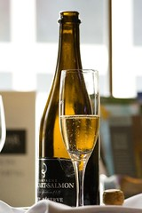 Champagne (Heather Leah Kennedy) Tags: drink champagne salmon reserve alcohol brut billecart