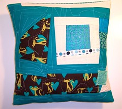 Inprovised patchwork pillow