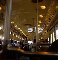 Aboard the 1055 (Olivander) Tags: sanfrancisco california 120 tlr mediumformat muni streetcar argus fline agfaoptima100 620 1055 super75 sfchronicle96hrs