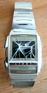 smashed watch
