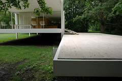 view to the front door (suttonhoo) Tags: chicago architecture modernism farnsworth plano mies farnsworthhouse