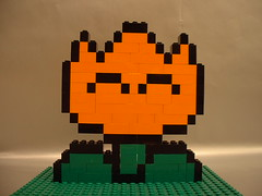 LEGO Super Mario World fire flower (benjibot) Tags: lego mario nes