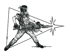 "DRAWINGS- PEN & INK- PORTRAITS: ""VASQUEZ- LET'S ROCK !!"" (zero g) Tags: sf portrait film pen ink movie drawing alien drawings aliens rob weapon scifi robjan sciencefiction stipple penink vasquez spacemarine letsrock bughunt colonialmarines smartgun aliensandpredatorlovers weylandyutanicorp"