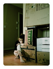 The Awful Truth, Day 3:  Too Many Damn Boxes (Big Fat Rat) Tags: life portrait self living weird funny space dirty gross messy reality boxes bizarre untidy utataspeaks3