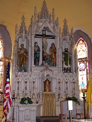 St. Mary's Church, 1889, Muskegon-Altar (zenosaurus) Tags: church shrine christ jesus christian altar relics altars