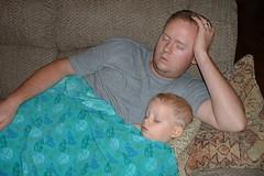 DSCF0003 (imperfectgenius) Tags: chris sleeping alaska couch likefatherlikeson