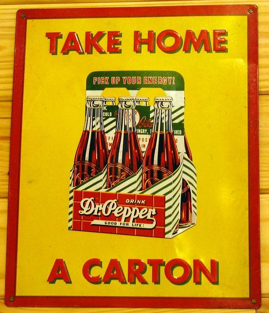 Dr. Pepper vinatge sign