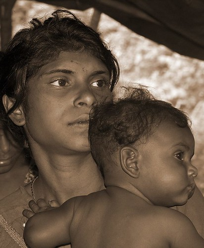 Tribal Woman w/ Baby / csamuel23