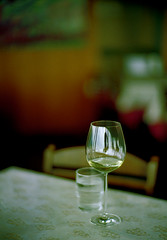 a lunch with some wine (hk2006) Tags: leica glass japan lunch restaurant wine kodak 100uc m6 yamanashi noctilux50f12nd