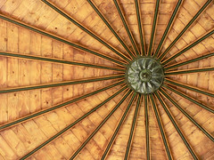 Sun Symbol (sonofsteppe) Tags: wood roof sun inspiration architecture composition circle creativity countryside photo wooden iron hungary ray symbol outdoor metallic country frombelow structure lookingup explore license manmade imagination exploration impossibleflag gettyimages individuality alcstdoboz sonofsteppe pusztafia