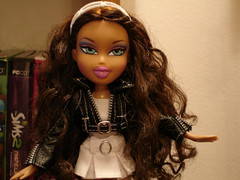Bratz Nevra Black & White (callme_crochet) Tags: white black catchycolors photography interestingness flickr catchycolours lol awesome thebest bratz flickrs flickys nevra anawesomeshot
