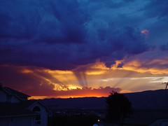 Front porch sunset (Doug Goodenough) Tags: sunset sunsets clouds storm scenic colorful orange sun sky thunder lightning wow aplusphoto superaplus onlythebest douggoodenough drg531
