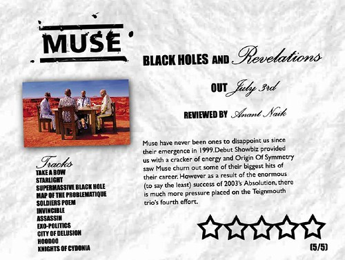 black holes and revelations album cover. #39;Muse - Black Holes And..