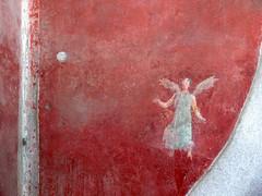 angel (heavenuphere) Tags: red italy wall angel painting italia pompeii wallpainting