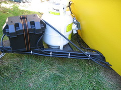 Final Boler Week: Battery and Propane Tank (petramarcemilyaudrey) Tags: restoration trailer fiberglass rv camper 1976 traveltrailer refurbish refurbishing boler