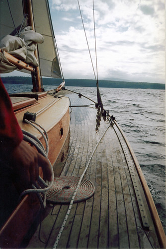 Wooden sailing boat, Port Townsend, Washington
