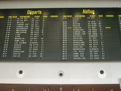 départs - abflug