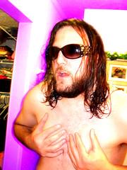 powderting (Ellis Humphres) Tags: topless disturbing clutching guysingirlssunglasses aliencolor