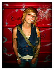 Sarah - Sleepy Smoker (merkley???) Tags: sanfrancisco red portrait tattoo sarah photoshop portraits cool saturated hipsters artist cigarette smoke tattoos redhead sleepy alcohol portraiture artists saturation safe smoker tobacco retouched airbrush explorenumber1s chicksset somewhatdrunk