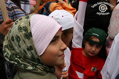 Children at Protest for Lebanon (IndyFoto) Tags: copyright lebanon usa toronto canada children dawn idiot bush rally protest evil 2006 christian demonstration stop arab linda american ndp murder jewish jews bombs harper hammond israeli bombing gaza hasidic consulate palestinians deaths antizionist indyfoto
