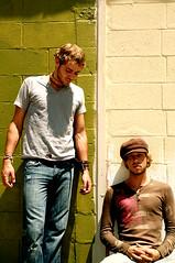 Stephen Speaks (Austin Tolin) Tags: urban oklahoma musicians topv333 band guys brickwall tulsa stephenspeaks rockwellryan