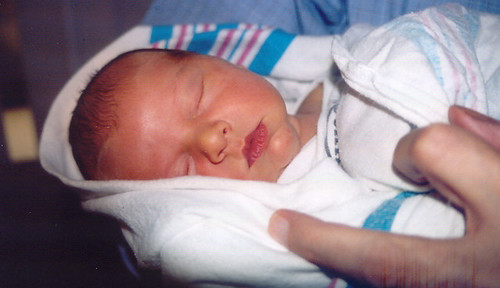 Baby Sean with Grandpa's fingers