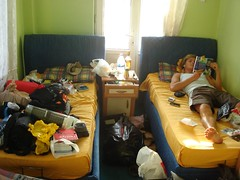 Organising all our stuff in a small hotel room in Siverek (Nicolai Bangsgaard) Tags: turkey favourites wt 26jul06